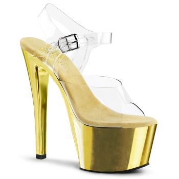 Plateau High Heels SKY-308 - Gold Chrom