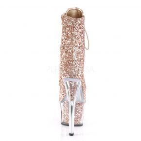 Glitter Plateau Stiefelette ADORE-1020G - Rose Gold